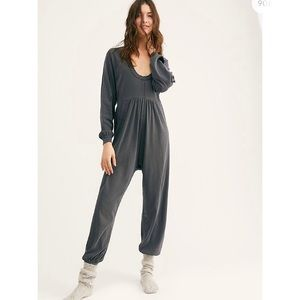 FREE PEOPLE ROAD TRIP ONESIE WASHED ARMY SZ SMALL